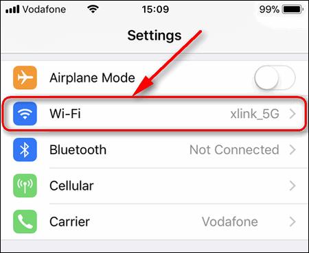Wi-Fi Settings iPhone