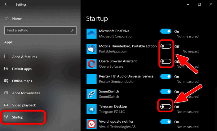 Disable Startup Apps in Windows 10