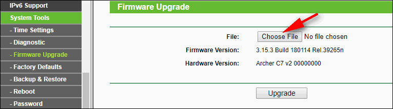 firmware upgrade Archer C7