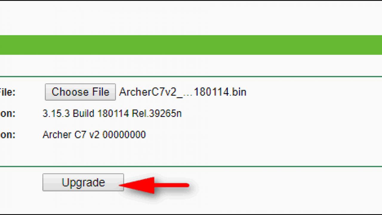 TP-Link Archer C7 v2 - Upgrade Firmware