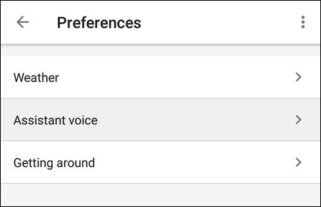 Assistant voice preferences