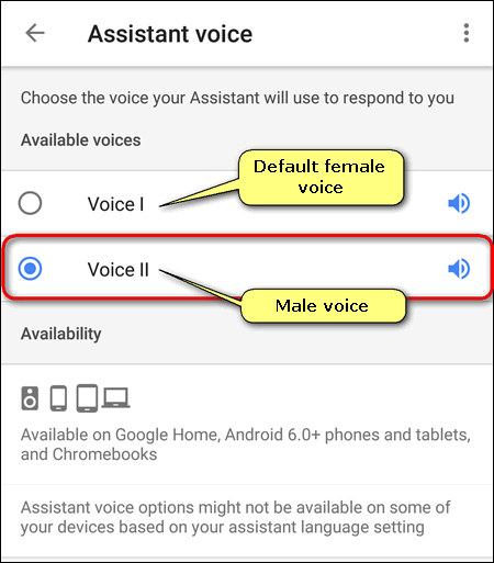 Change Google Assistant Voice on Android