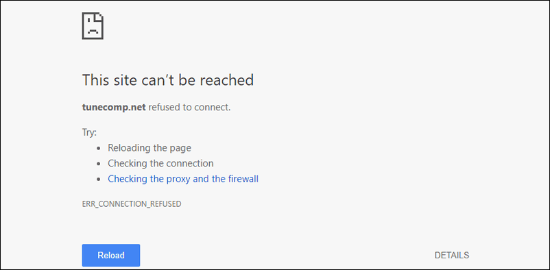 err_connection_refused chrome windows 10