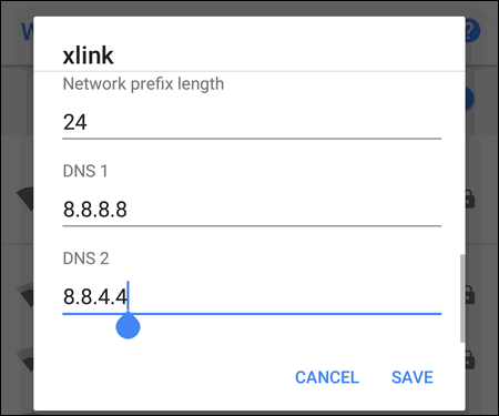 Google DNS on Android