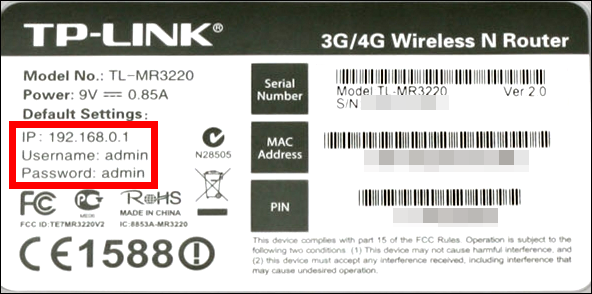 TP-Link 4G Router Settings 192.168.1.1 192.168.0.1