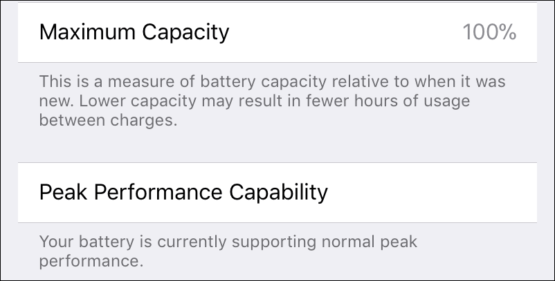 how to check iPhone battery capacity and health