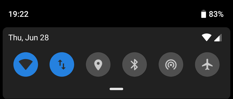 Wi-Fi Bluetooth Location Android 9