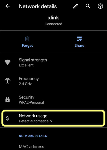 Wi-Fi Network Usage