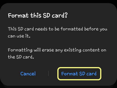 Format this SD Card One UI 2.0