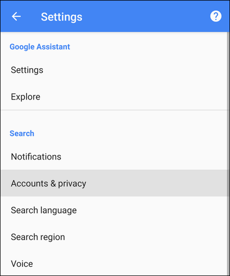 Google App Account & Privacy