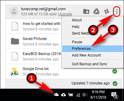 Backup and sync Preferences