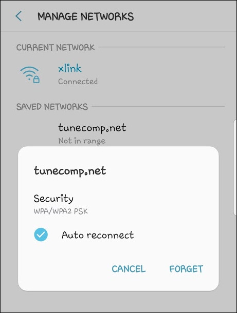 manage networks galaxy s9 Android 8