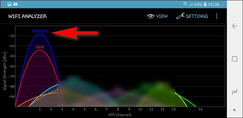 Wi-Fi hotspot 2.4 GHz