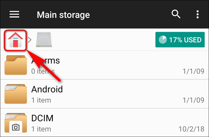 file manager+ Home