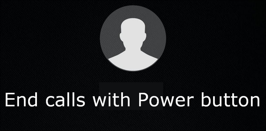 end call with power button Huawei
