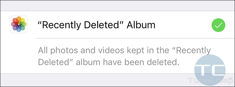Recently Deleted album emptied