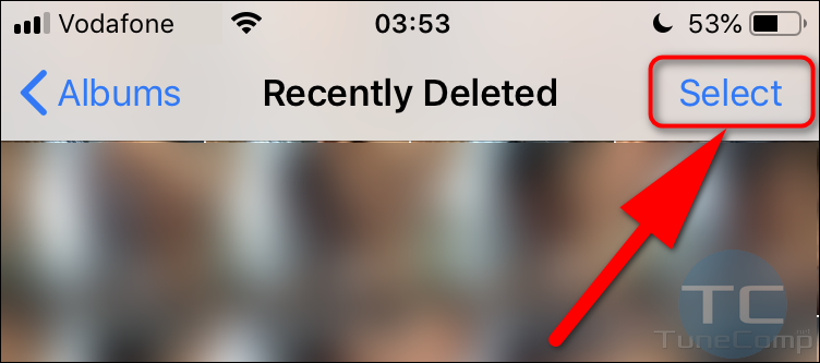 select items in Apple Photos