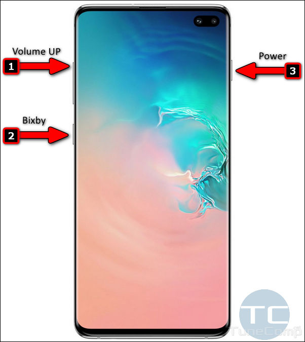 key combination for galaxy s10 recovery mode