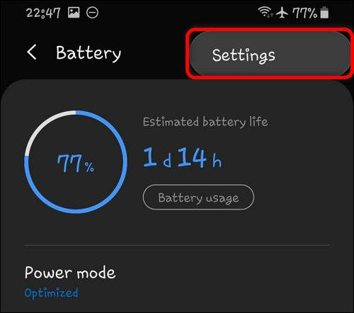 Battery Settings One UI