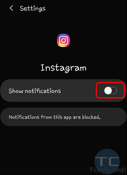 Disable notifications for particular app Galaxy S10