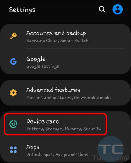 Galaxy S10 Device Care