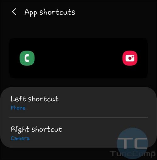 choose shortcut to change app