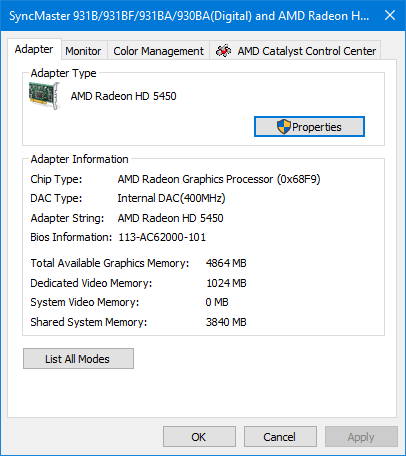 How to Check Graphics Card Video Memory (VRAM) Size on Windows 10