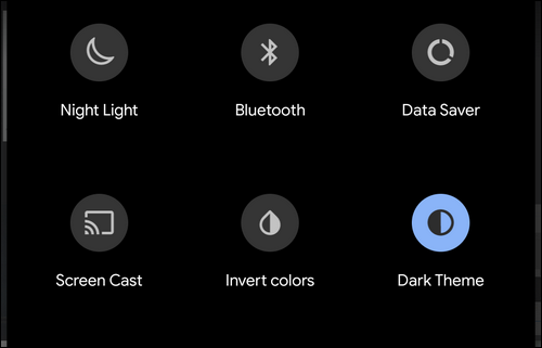 switch Dark and Light themes via quick toggle
