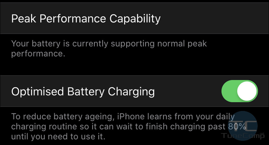Enable Optimised Battery Charging iPhone iOS 13