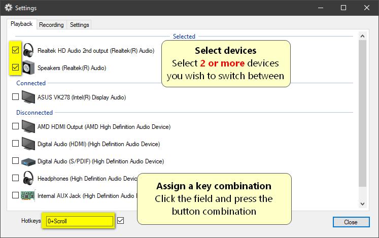 Sound Switch Windows 10