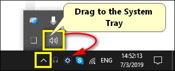 Volume icon hidden Windows 10