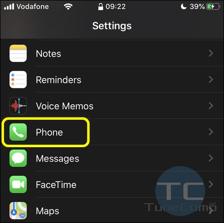 iPhone Settings Phone iOS 13