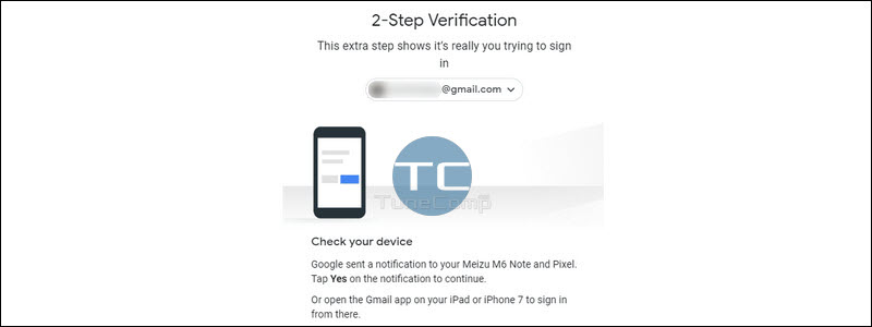 Google 2-Step Verification Check Your Device