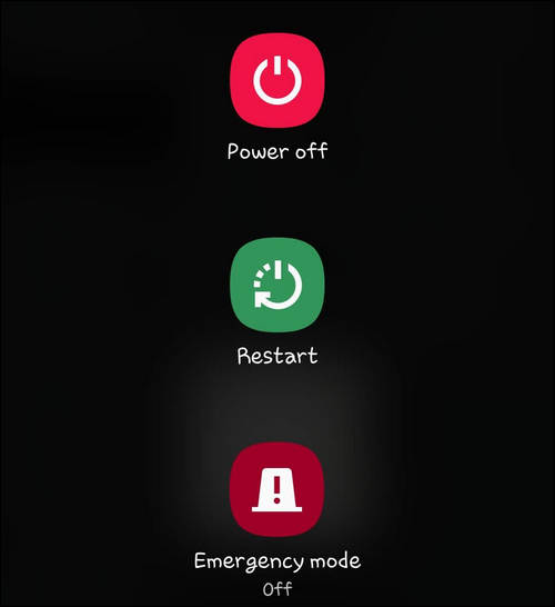 Power off, Restart, Emergency mode Galaxy Note 10