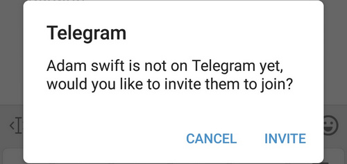 is not on Telegram yet