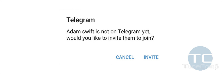 not on Telegram yet