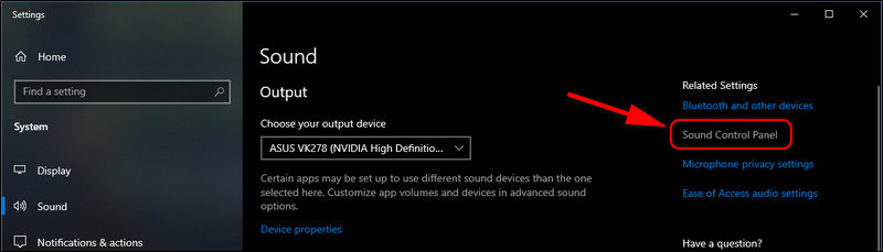 Sound Control Panel Windows 10 Settings 1909