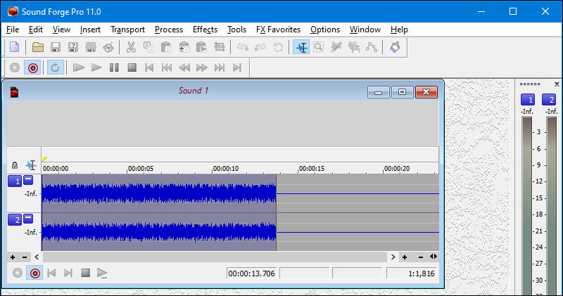 Sound Forge recording music played in Chrome