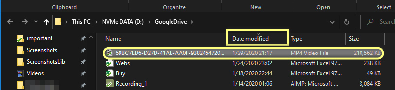video file uploaded to Google Drive from iPhone 11