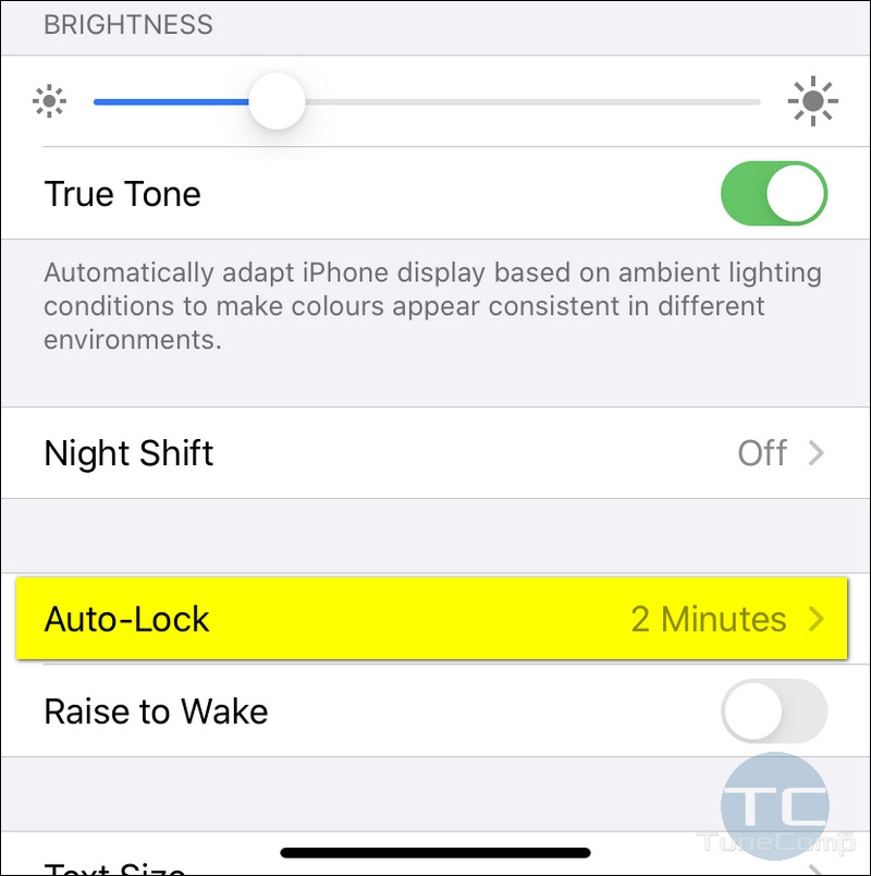 Auto-Lock 2 Minutes iPhone 11 iOS 13
