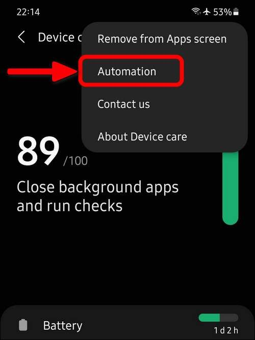 Automation settings One UI 3.1