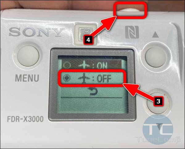 enable AirPlane Mode on Sony X3000