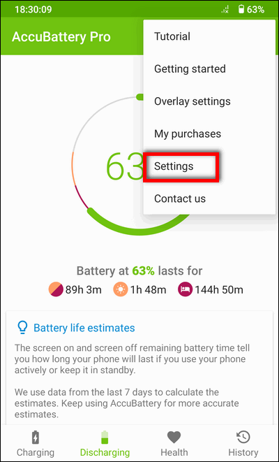 AccuBattery Settings