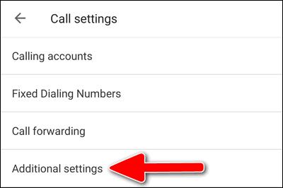 Google Phone app additional settings