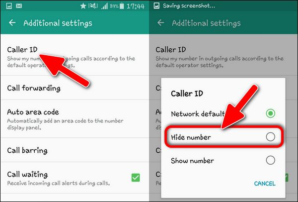 Hide Number on Samsung Galaxy S4