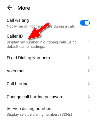 Hide Phone Number Huawei Dialer EMUI 10