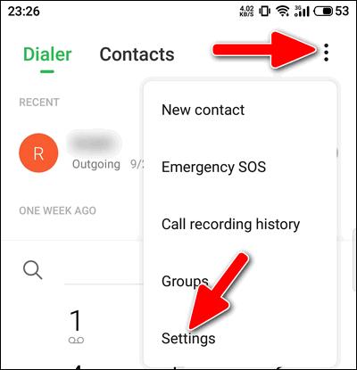 Meizu Dialer App Settings