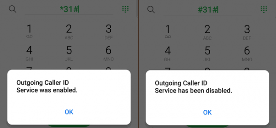 Restrict and Show Caller ID using feature codes