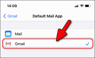 Gmail as default Mail app iPhone