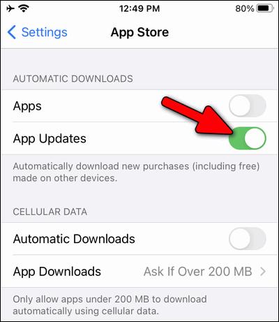 auto update apps iOS 14